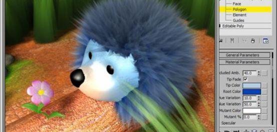 3D Max用Hair and Fur修改器设置毛发效果(14)
